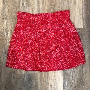 Gap Red Flirty Mini Skirt – S